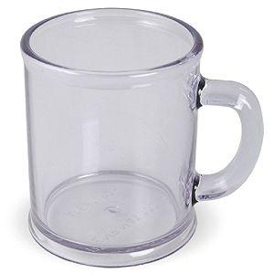 Кружка «Радуга»; прозрачная, D=7,9см, H=9,6см, 300мл; пластик; тампопечать