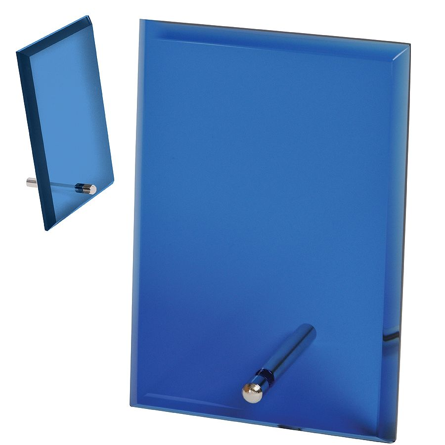 Стела «Pride» в подарочной коробке,синяя, 15,2х10,1х1см,стекло