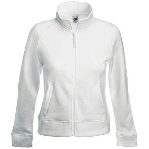 "Толстовка ""Lady-Fit Sweat Jacket"", белый_M, 75% х/б, 25% п/э, 280 г/м2"