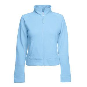 """Толстовка """"Lady-Fit Sweat Jacket"""", небесно-голубой_XS, 75% х/б, 25% п/э, 280 г/м2"""