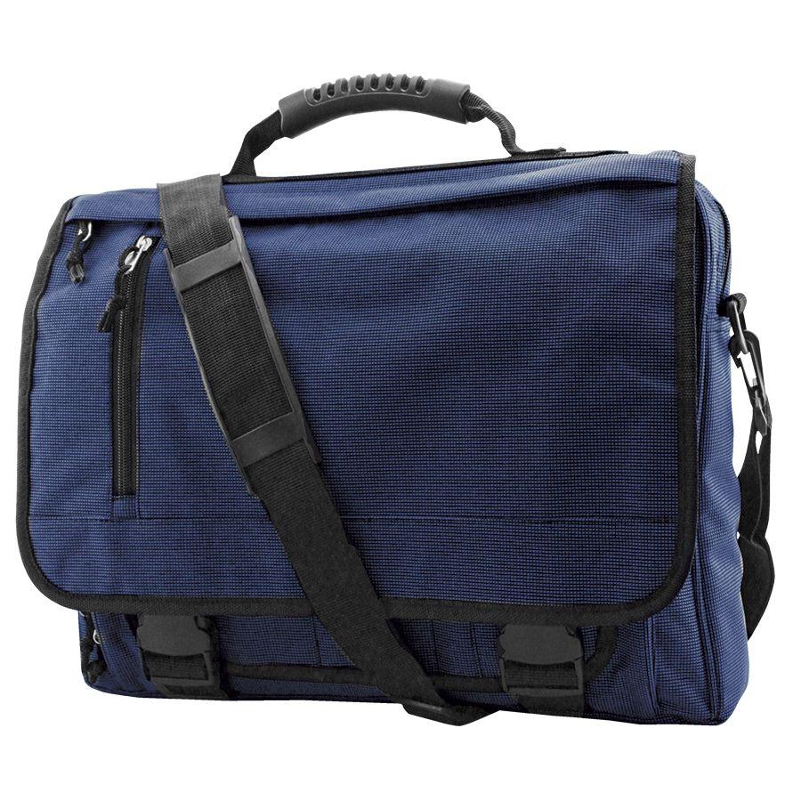Конференц-сумка с отделением для ноутбука «Portfolio»; синий; 39,5х30х7 см; полиэстер; шелкография