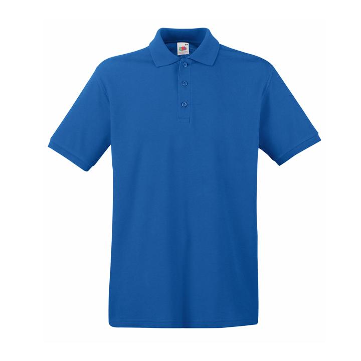 Поло «Premium Polo», ярко-синий_M, 100% х/б, 180 г/м2