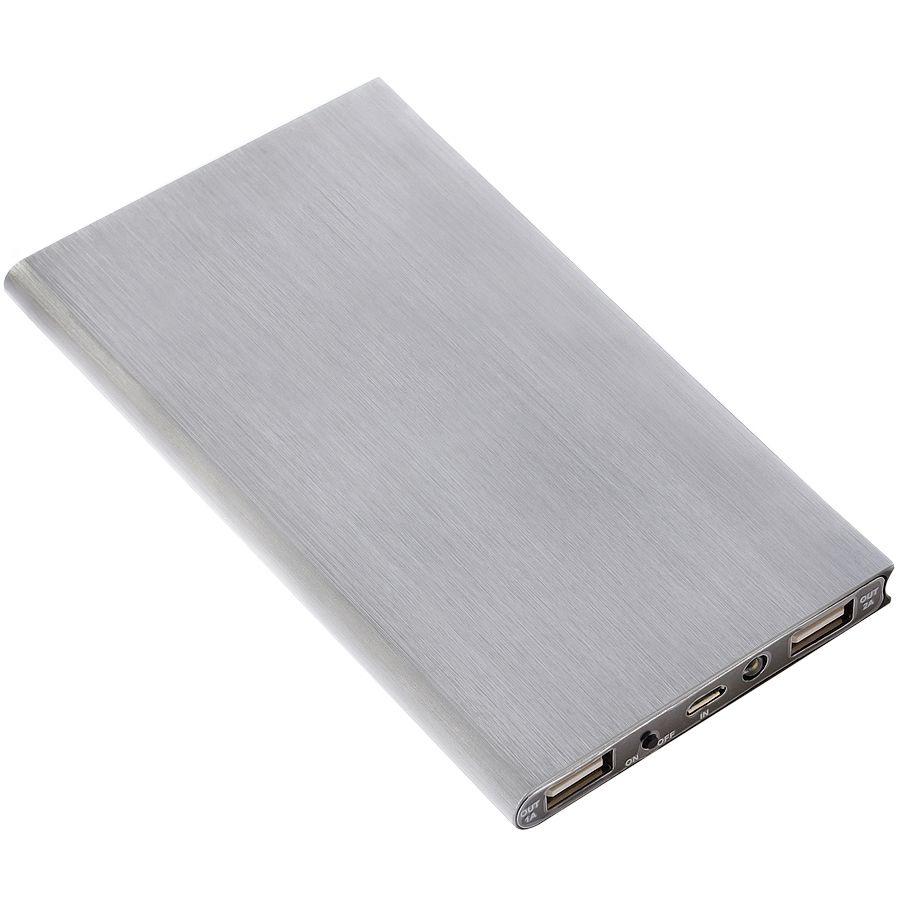 Универсальное зарядное устройство «Energy» (8000 mAh), серебристое, 15,3х7,6х0,9см, металл