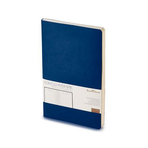 Ежедневник недатированный Megapolis Flex, А5, темно-синий navy, бежевый блок, без обреза