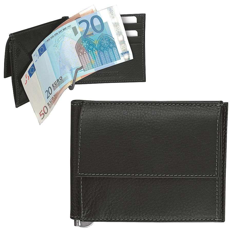 Фотография товара Портмоне с клипом для купюр  «Арко», 11 x 1 x 8,5 см, кожа, тиснение, шильд
