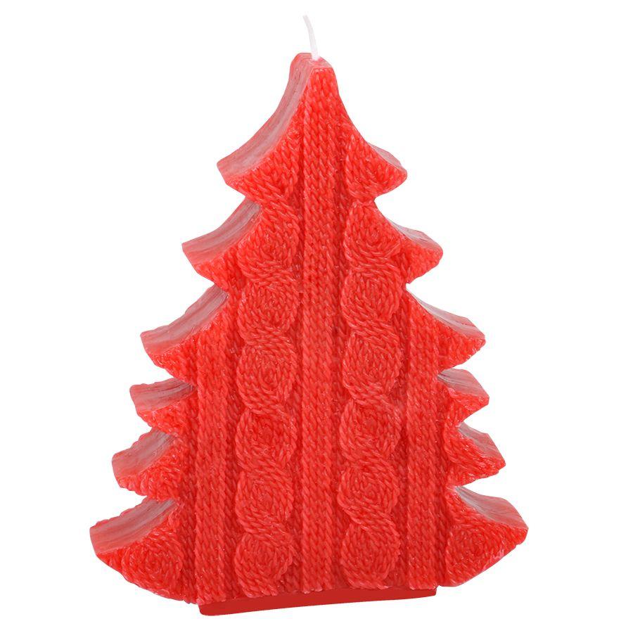 Фотография товара Свеча  «ЕЛКА»,  красный,  воск, 15х3.6х19 см
