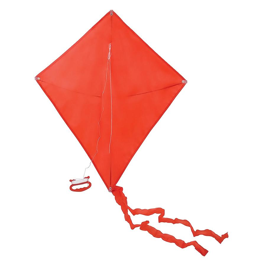 Воздушный змей «РОМБ»;  красный; 70*60 см; полиэстер; шелкография