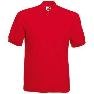 Поло «65/35 Polo», красный_M, 65% п/э, 35% х/б, 180 г/м2