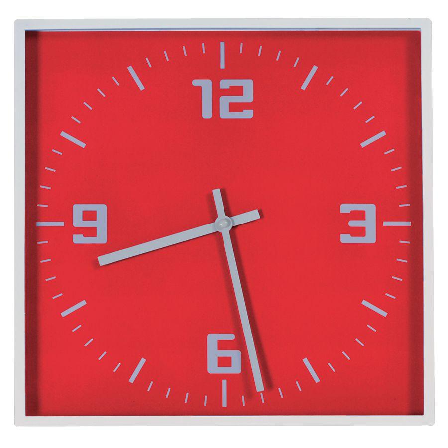 Фотография товара Часы настенные «КВАДРАТ»; красный, 30*30 см; пластик; без элементов питания