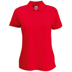 Поло «Lady-Fit 65/35 Polo», красный_L, 65% п/э, 35% х/б, 180 г/м2