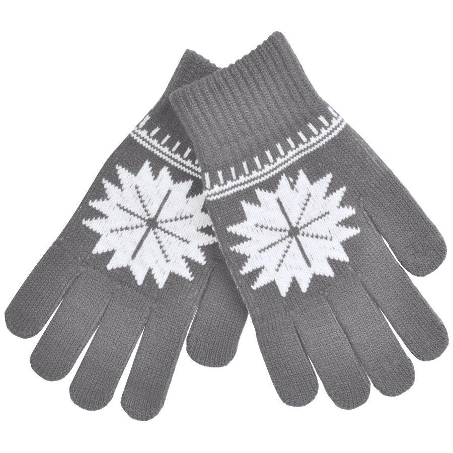 Фотография товара Перчатки для сенсорных экранов «СНЕЖИНКА»,  серый, М, акрил, шеврон