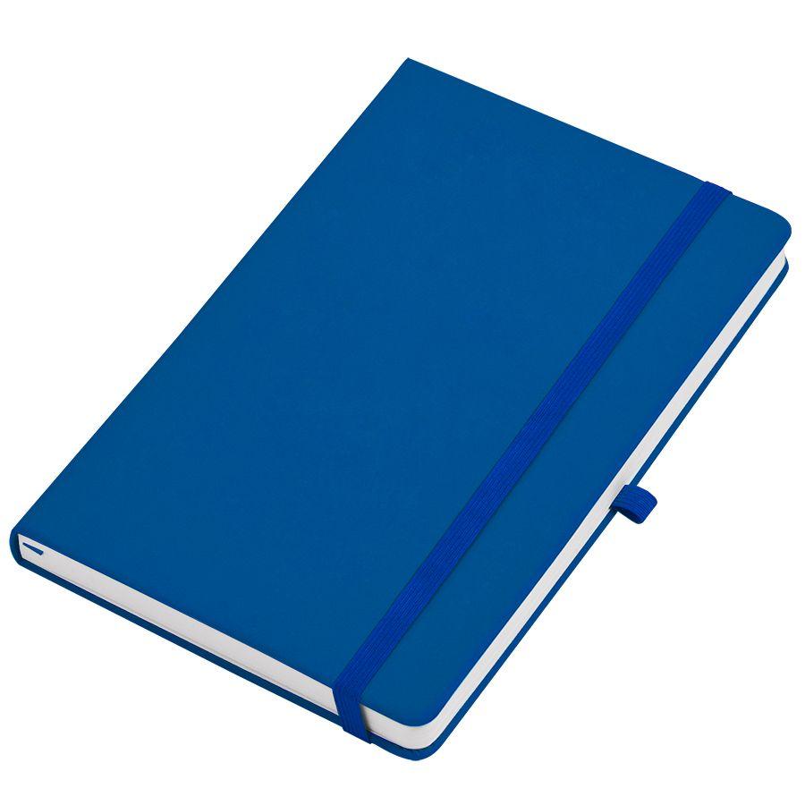 Фотография товара Бизнес-блокнот А5  «Silky», синий,  твердая обложка,  в клетку
