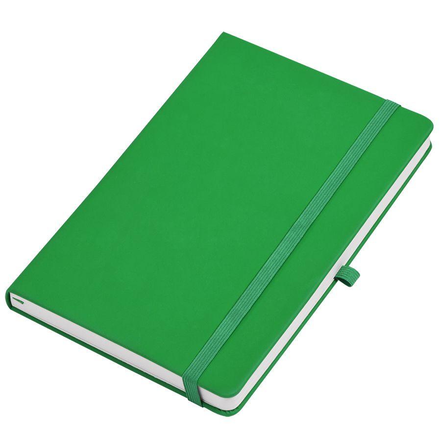 Фотография товара Бизнес-блокнот А5  «Silky», ярко-зеленый,  твердая обложка,  в клетку