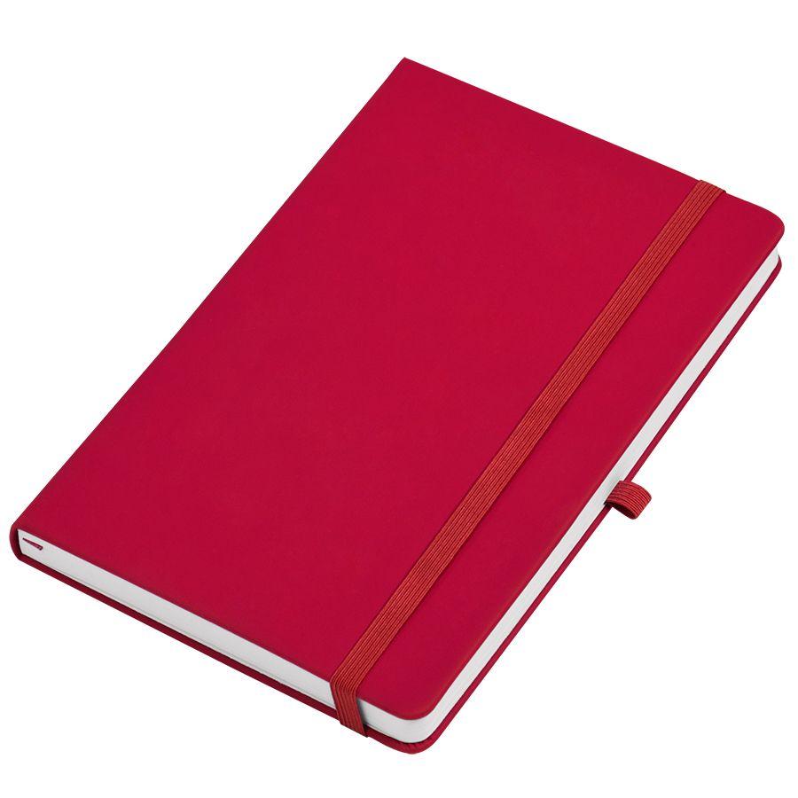 Фотография товара Бизнес-блокнот А5  «Silky», красный,  твердая обложка,  в клетку