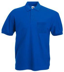 """Поло """"65/35 Pocket Polo"""", ярко-синий_S, 65% п/э, 35% х/б, 180 г/м2"""