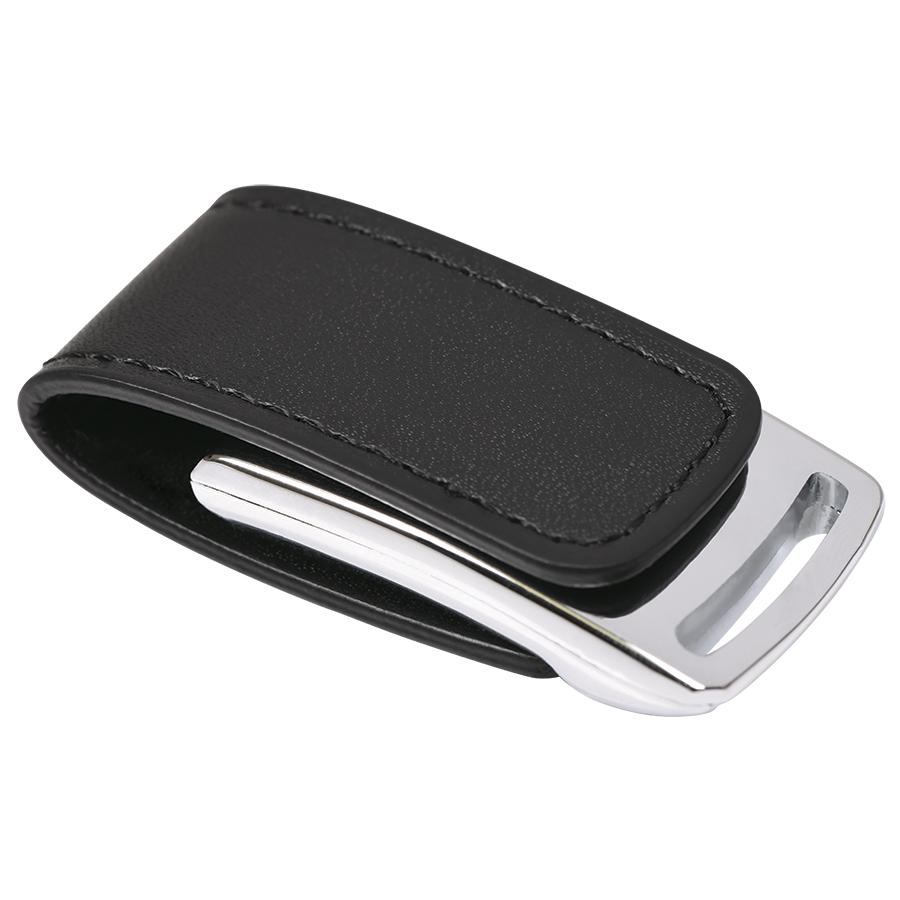 Фотография товара USB flash-карта «Lerix» (8Гб), черный, 6х2,5х1,3см, металл, искусственная кожа