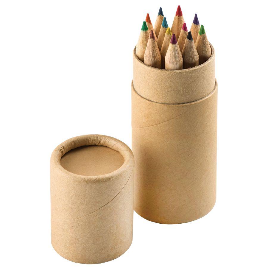 Фотография товара Набор цветных карандашей (12шт) «Игра цвета» в футляре, 3,5х10,3 см,дерево, картон