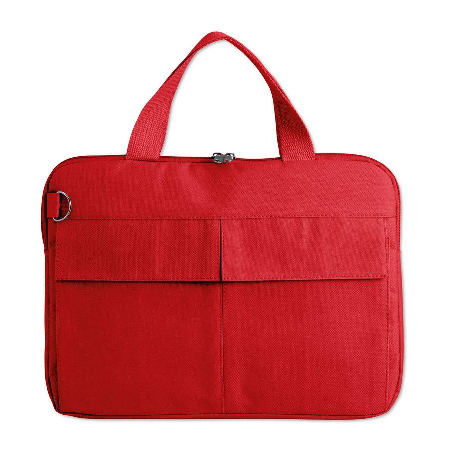 Конференц-сумка «Тодес» с отделением для ноутбука, красный, 40*30*2,5 см; полиэстер 600D; шелкогр