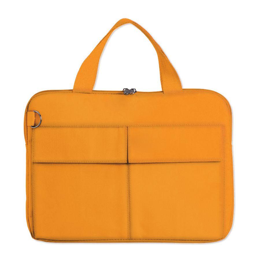 Конференц-сумка «Тодес» с отделением для ноутбука, оранжевый, 40*30*2,5 см; полиэстер 600D; шелког