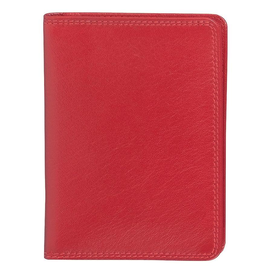Бумажник водителя «Модена»,  10*14 см,  красный, кожа, подарочная упаковка