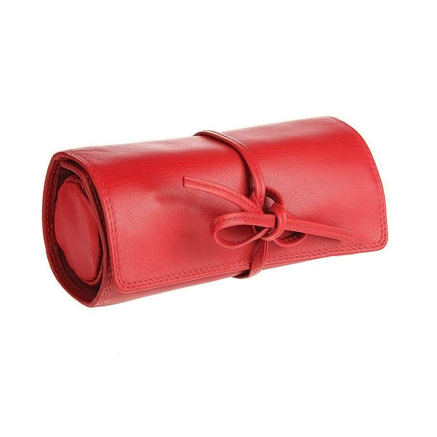 Футляр для украшений  «Милан»,  красный, 16х5х7 см,  кожа, подарочная упаковка