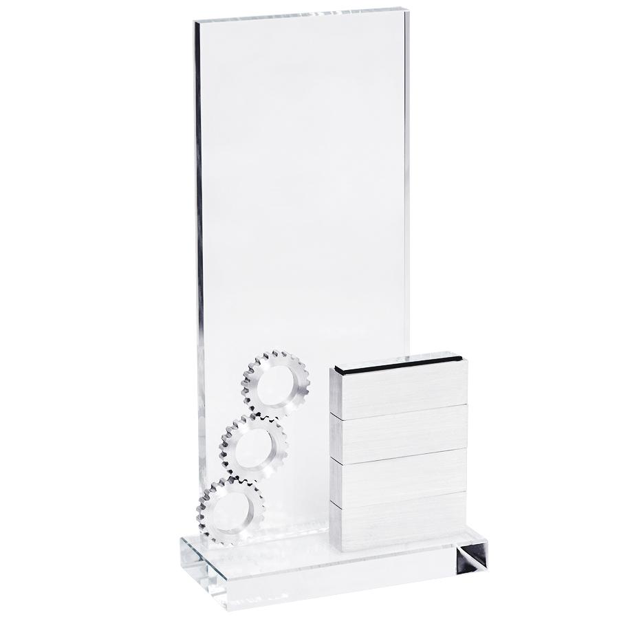 Стела «Industrial» в подарочной упаковке; 12х5х25см, металл, стекло