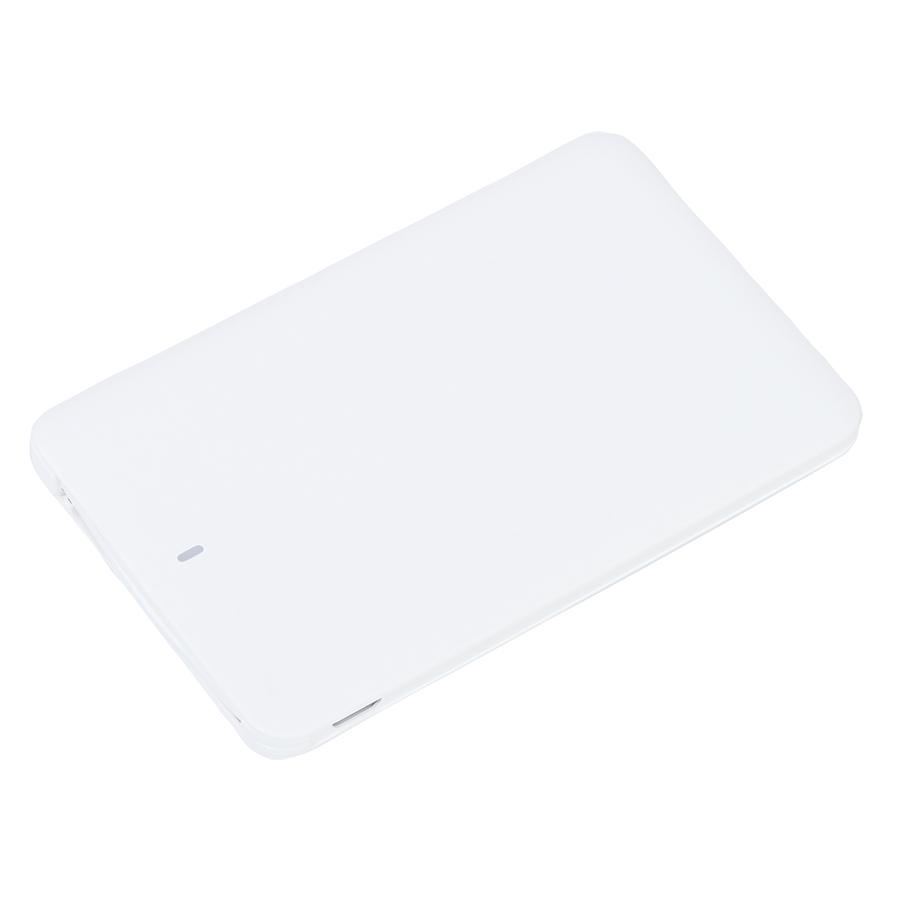 Универсальное зарядное устройство «Card» (2500mAh), 9,5х6х0,5 см,пластик