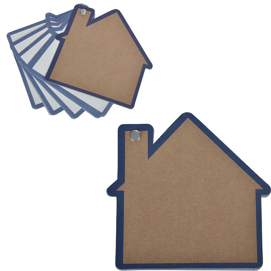 Промо-блокнот «Дом», синий, 13х12,5х0,9см, картон, бумага
