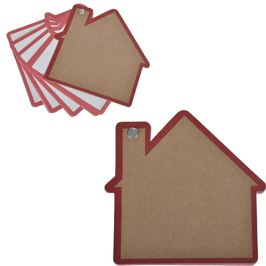 Промо-блокнот «Дом», красный, 13х12,5х0,9см, картон, бумага