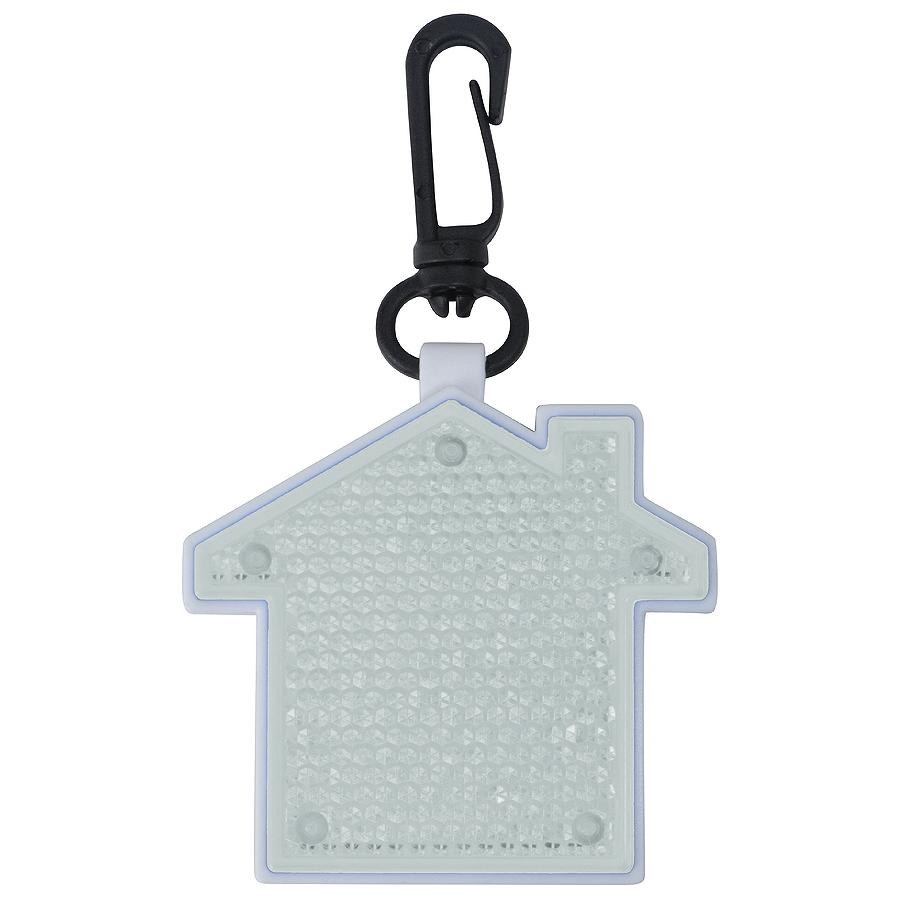 Фотография товара Светоотражатель с фонариком на карабине «Дом», белый, 5,2х5,5х1,1см, пластик