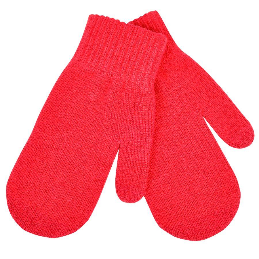 Варежки сенсорные «In touch»,  красный, М, акрил 100%.  шеврон