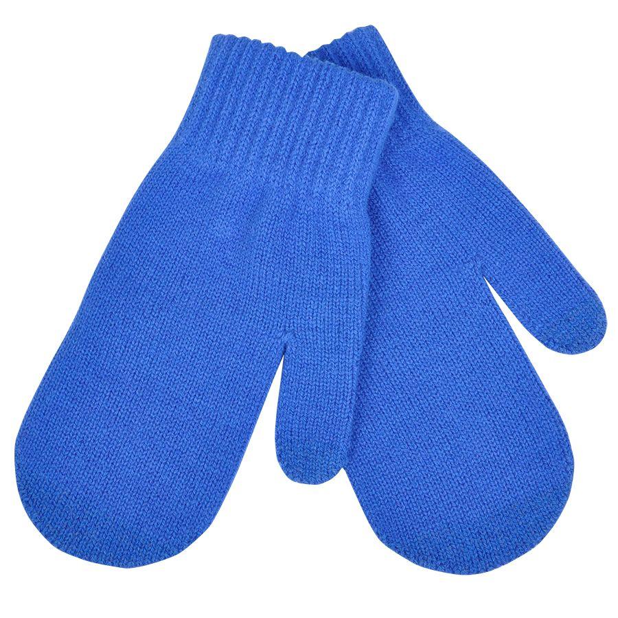 Варежки сенсорные «In touch», синий, М, акрил 100%.  шеврон