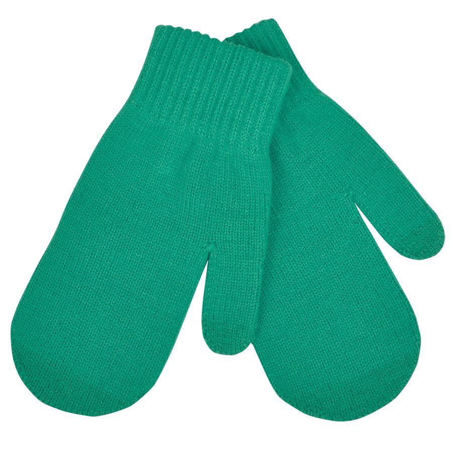 Варежки сенсорные «In touch»,  зеленый, М, акрил 100%.  шеврон