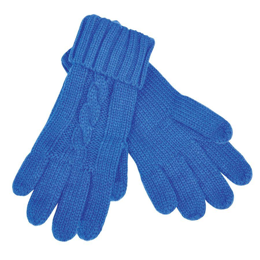 Фотография товара Перчатки  сенсорные «Irish»,  синий, М, акрил  шеврон