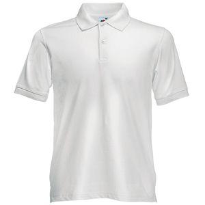 Поло «Slim Fit Polo», белый_S, 97% х/б, 3% эластан, 210 г/м2