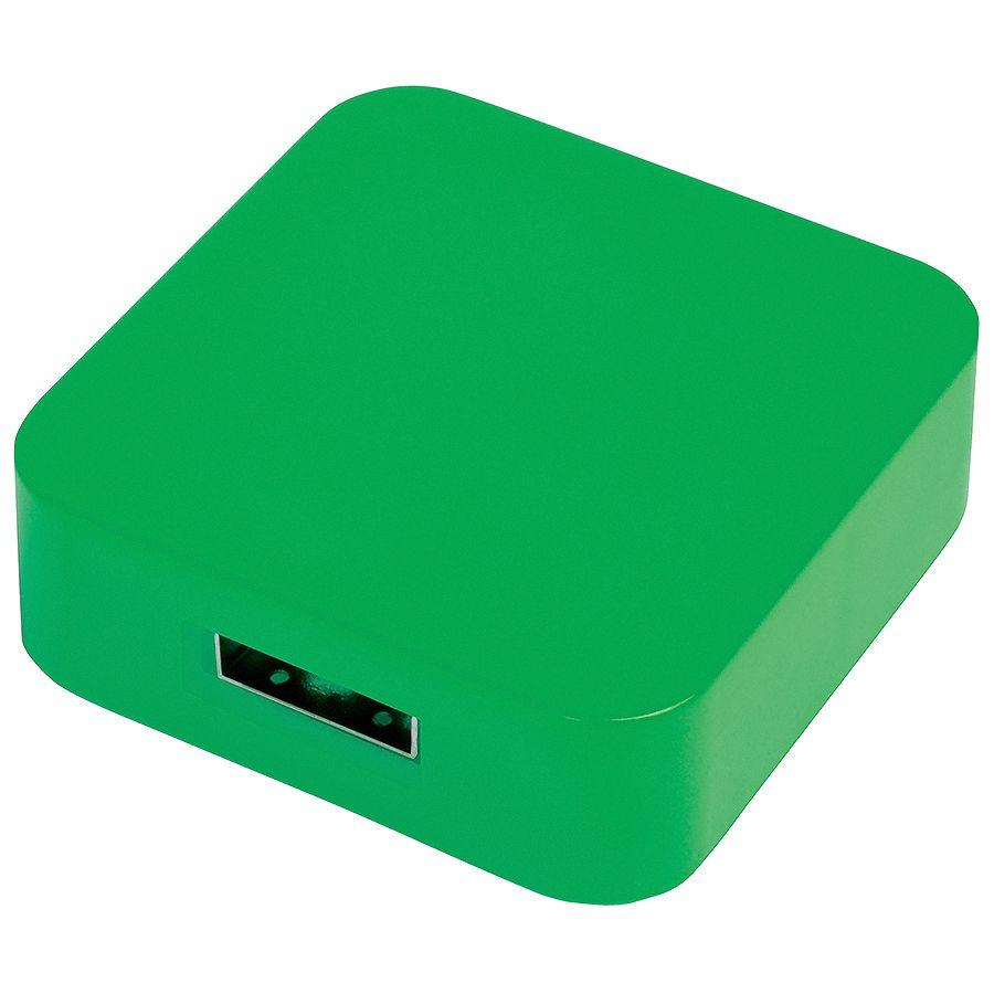 USB flash-карта «Akor» (8Гб),зеленая, 4х4х1,3см,пластик