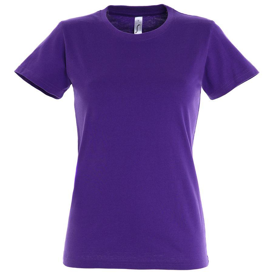 """Футболка """"Imperial Women"""", фиолетовый_L, 100% х/б, 190 г/м2"""