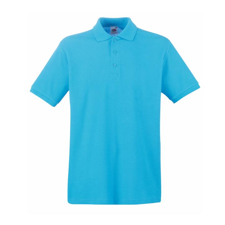 Поло «Premium Polo», лазурно-голубой_2XL, 100% х/б, 180 г/м2