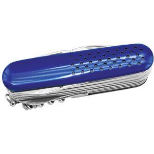 Фотография товара Нож многофункциональный (15 функций); синий; 9х2,8х2,9 см; металл; лазерная гравировка