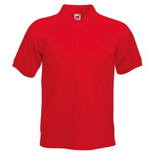 Поло «Slim Fit Polo», красный_L, 97% х/б, 3% эластан, 220 г/м2