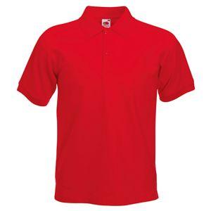 Поло «Slim Fit Polo», красный_S, 97% х/б, 3% эластан, 220 г/м2