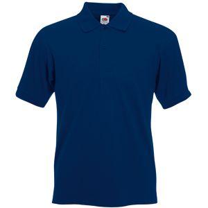 Поло «Slim Fit Polo», темно-синий_2XL, 97% х/б, 3% эластан, 220 г/м2