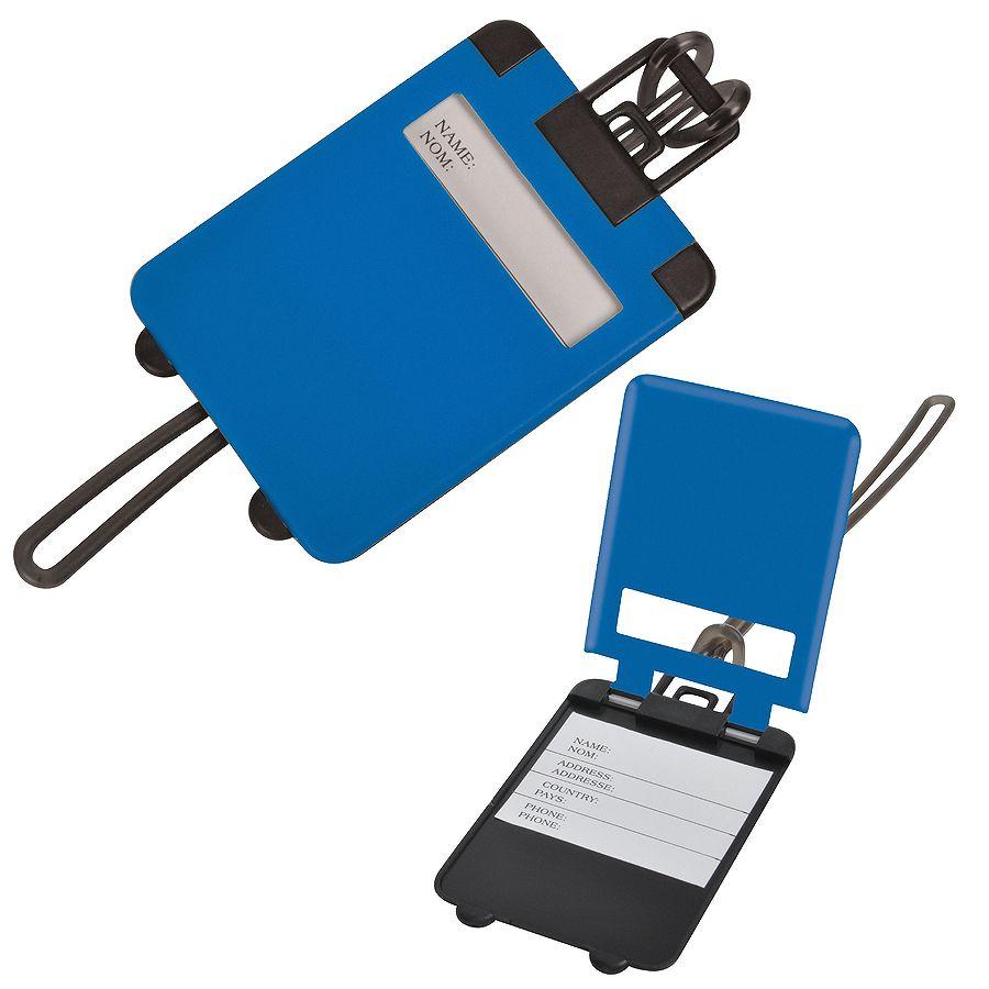 Бирка багажная «Чемодан»;  синий; 5.6*7.8 см; пластик; тампопечать