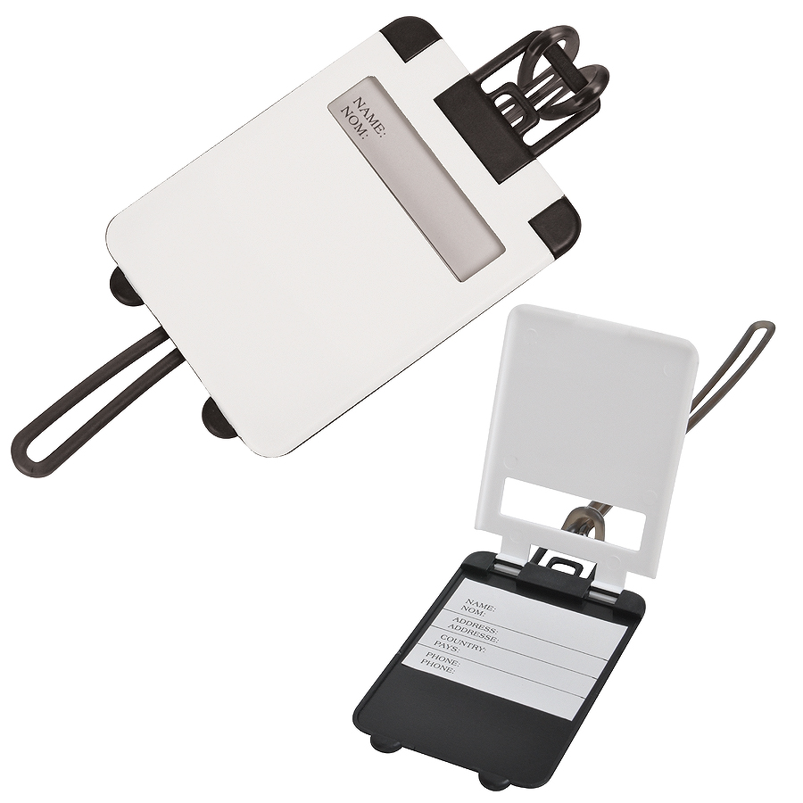 Бирка багажная «Чемодан»;  белый; 5.6*7.8 см; пластик; тампопечать