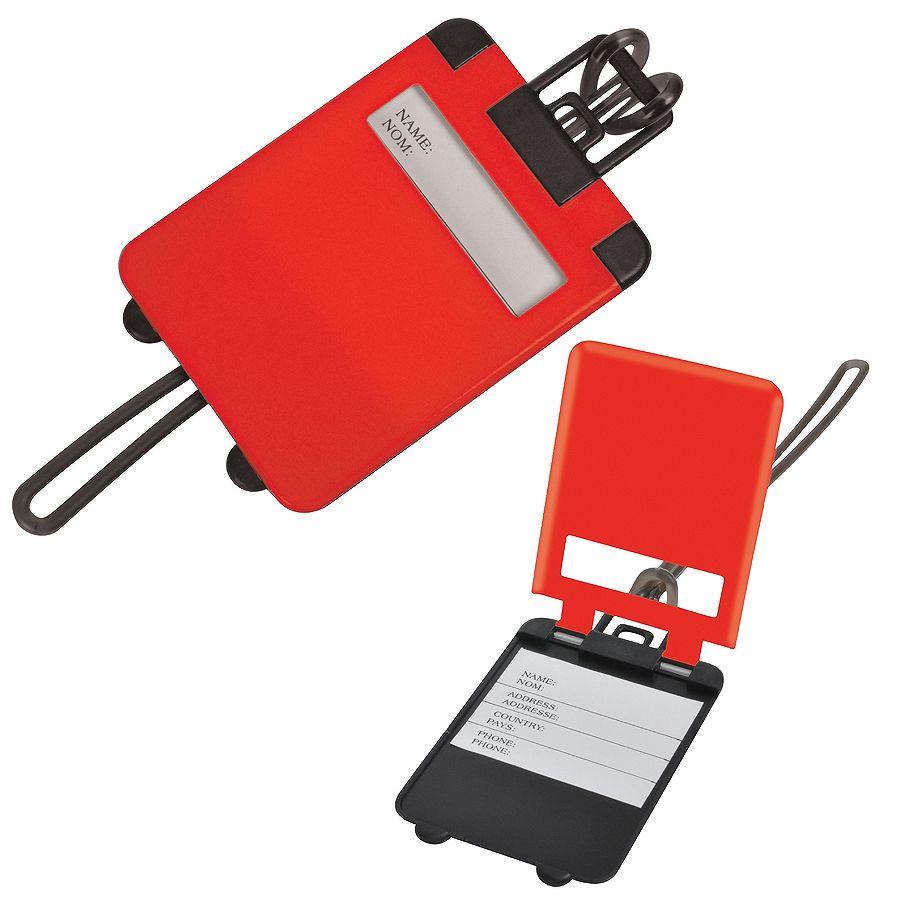 Бирка багажная «Чемодан»;  красный; 5.6*7.8 см; пластик; тампопечать