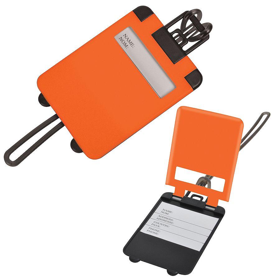 Бирка багажная «Чемодан»;  оранжевый,  5.6*7.8 см; пластик; тампопечать