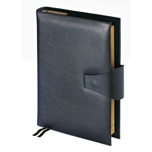Ежедневник полудатированный Windsor, А5+, черный, бежевый блок, золотой обрез, два ляссе, карта, сме