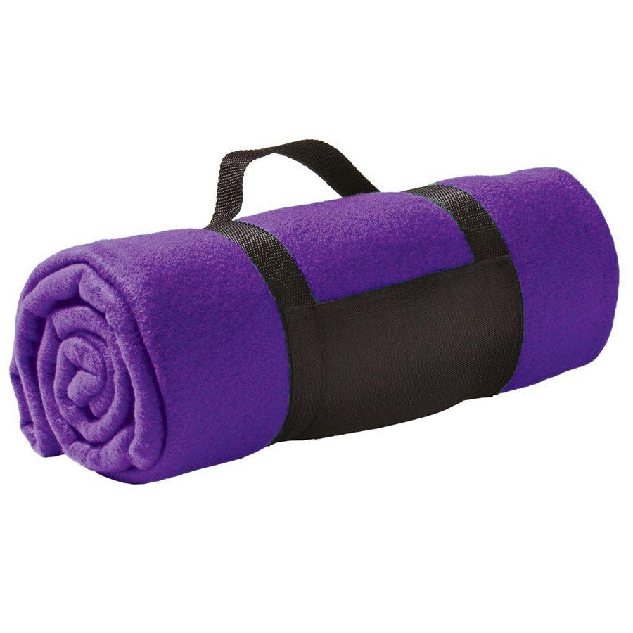 Плед «Color»; фиолетовый; 130х150 см; флис 220 гр/м2; шелкография, вышивка