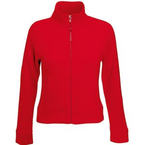 "Толстовка ""Lady-Fit Sweat Jacket"", красный_M, 75% х/б, 25% п/э, 280 г/м2"