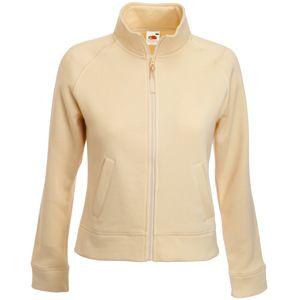 "Толстовка ""Lady-Fit Sweat Jacket"", цвет слоновой кости_S, 75% х/б, 25% п/э, 280 г/м2"